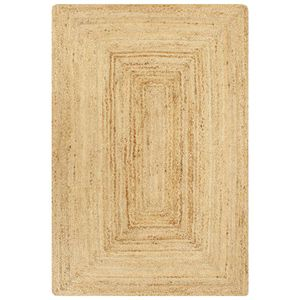 vidaXL Teppich Handgefertigt Jute Natur 120x180 cm
