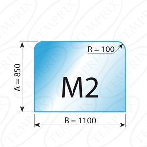 Kaminbodenplatte Transparent Form M2  850 x 1100 x 6mm - Version ECO (Tragkraft bis 550 Kg)