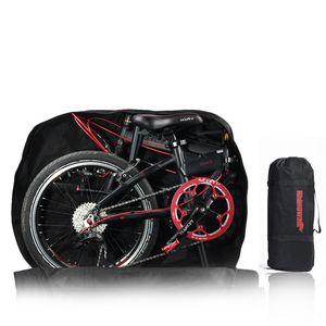 20 Zoll Folding Bike Bag Laden Fahrzeug Tragetasche Beutel Gepackt Auto Verdickt Tragbare Fahrrad Pack (Schwarz)