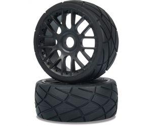 Carson 1:8 Buggy Reifen Set On-Road für 6S Power Ausgelegt