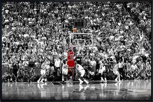 Michael Jordan Poster Last Shot 1998 Colorized(91,5x61cm) gerahmt