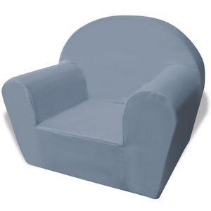 CHIC® Kindersessel/Kindersofa/Kinderzimmer Sofa/Mini-Sofa-Sessel/Softsofa Grau GRÖSSE:44 x 53 x 36 cm