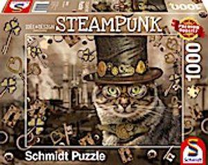 Schmidt Spiele 59644 Steampunk Katze 1000 Teile Puzzle