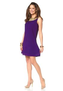 Melrose Kleid, lila-gold Kleider Größe: 36