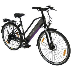 MAXTRON Trekking Elektro-Bike, 28 Zoll, Hinterradmotor