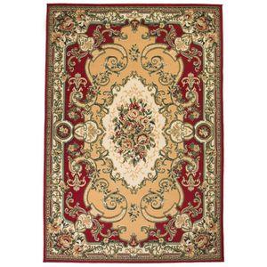 Hochwertigen- Orientteppich / Orient Teppich / Wohnzimmerteppich 160x230 cm Rot/Beige