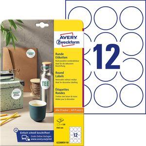 AVERY Zweckform Kennzeichnungs-Etiketten Durchmesser: 60 mm weiß rund 120 Etiketten