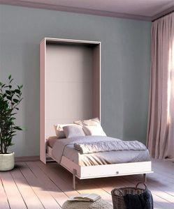 Schrankbett Funktionsbett Bett Juist 90x200cm vertikal weiß Modern