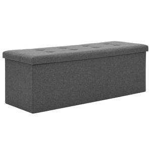 vidaXL Faltbare Sitzbank Leinenoptik 110×38×38 cm Dunkelgrau