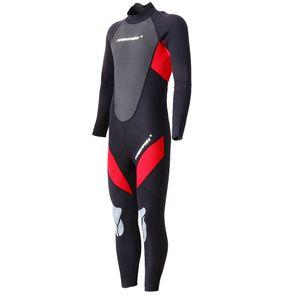 3mm Neopren Männer Neoprenanzug Ganzanzug für Tauchen Schwimmen Rot wie beschrieben Rot L