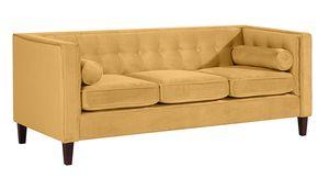 Max Winzer Jeronimo Sofa 3-Sitzer - Farbe: gelb - Maße: 215 cm x 85 cm x 80 cm; 2962-3100-2044266-F07