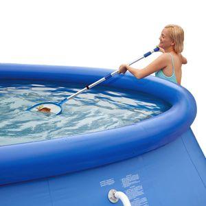 Summer Escapes Pool Reinigungsset mit Kescher Bodensauger Teleskopstange