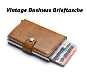 Vintage Business Brieftasche mit RFID Schutz Aluminiumlegierung RFID Schild NEU