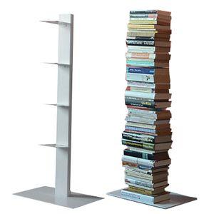 Radius Bücherregal Booksbaum 2 weiss einreihig stehend klein - 734 b