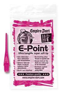 Empire Dart Softdartspitzen - E-Point - 2BA - lang - neonpink - 100 Stück