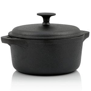 BBQ-Toro Gusseisen Topf | 4,0 Liter - Ø 24 cm | bereits eingebrannt