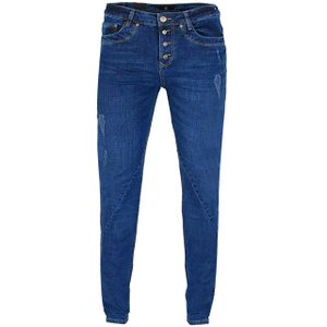 GIN TONIC Damen Boyfriend Jeans Blue Wash, Größe:34/34, Farbe:Blue Wash