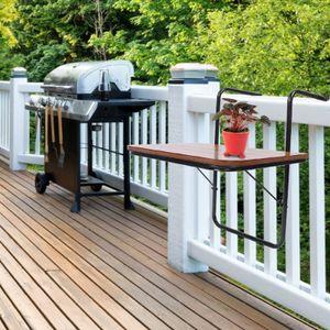 Balkonhängetisch MDF Balkontisch Balkonmöbel Terrasse Tisch 60x40 cm