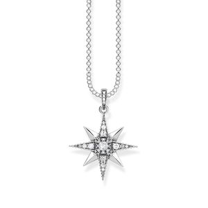 Thomas Sabo KE1825-643-14 Kette Royalty Stern Weiss Silber 45 cm
