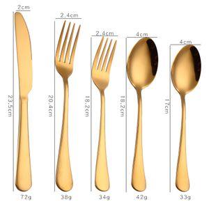 30 Stück Titanium Gold Plated Besteck 30 Stück Golden Besteck Set Gold Besteck Set Besteck Sets Service für 6 (Gold glänzend)