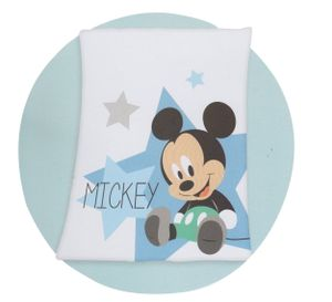 Herding Disney's Mickey Mouse Baby Microfaser-Flauschdecke, weiß-blau, 75x100cm