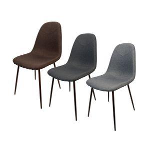 Schalenstuhl Stoff Esszimmerstuhl Küche Esszimmer Wohnzimmer Polster Stuhl , Farbe:Hellgrau