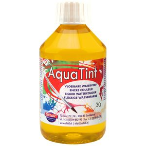 Flüssige Wasserfarbe AquaTint - Farbe gelb - 250ml Flasche
