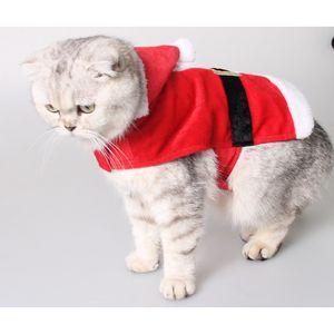 Hund Weihnachten Kostüm Weihnachtsmann Haustier bekleidung Winter Kleid -Rot