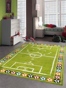 Kinderteppich Fußball Kinderzimmerteppich Junge grün Größe - 160x230 cm