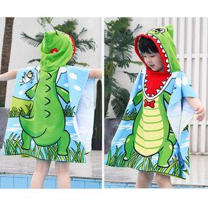 Baby Kapuzenbadetuch Waschlappen Cartoon Krokodil Badetuch Mantel für Jungen Kinder Baby Strandtücher Duschtücher