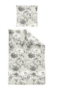 Irisette Biber Bettwäsche 2 teilig Bettbezug 135 x 200 cm Kopfkissenbezug 80 x 80 cm Feel 8204-11 grau