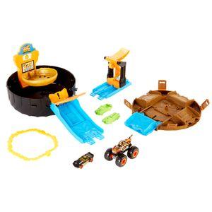 Hot Wheels Monster Truck Stunt-Reifen-Spielset inkl. 2 Spielzeugautos