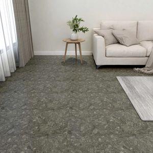 PVC-Fliesen Selbstklebend 55 Stk. Laminat Dielen Bodenbelag | für Wohnzimmer Schlafzimmer Büro 5,11 m² Grau - 64986