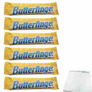 Butterfinger Candy Bar 6er Pack (6x53,8g Schokoriegel) + usy Block