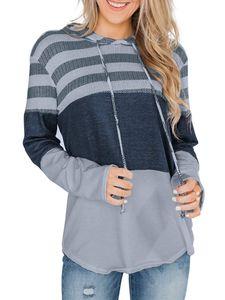 Damen Casual Loose Langarm Hoodie Sweatshirt Top,Farbe: grau,Größe:5XL