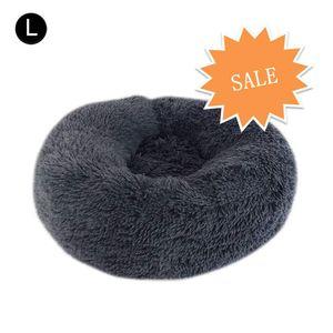 Hundebett, Katzenbett, Kissen Flauschig,Baumwolle und Samt,Dunkelgrau 60 *20 cm,Weich u. Waschbar,