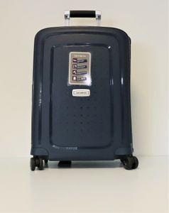 Samsonite Koffer Handgepäckkoffer S'cure Dlx Spinner 55/20, 55 cm, 34 Liter, Blau
