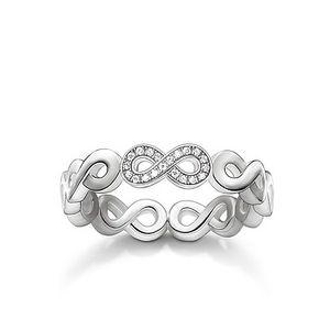 Thomas Sabo Diamant-Ring Sterling Silber D_TR0003-725-14 : 54