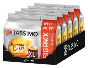 TASSIMO Morning Café XL 5er Pack T Discs Kaffee Kapseln 5 x 21 Getränke Big Pack