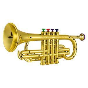 Trompete für Kinder, mit 4 farbigen Ventilen/Noten