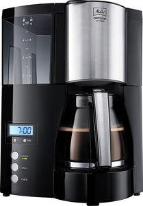 Melitta  Optima Timer Kaffeefiltermaschine | Timer-Funktion | Tropfstopp-Funktion | Schwarz/Edelstahl