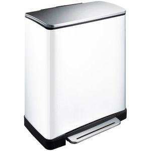 EKO E-Cubetret-Abfalltrenner 28+18 Liter Edelstahl silber