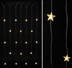LED Lichterkette Sterne Lichterschlauch Lichtschlauch Weihnachten Sternenvorhang