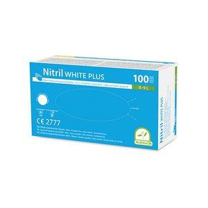 100 Medi-Inn Medi-Inn® PS Handschuhe, Nitril puderfrei White Plus weiss Größe L 93414 Nitrilhandschuhe Einweghandschuhe