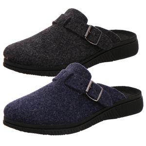 Rohde Herren Hausschuhe Pantoffeln Lecco 2700, Größe:43 EU, Farbe:Grau
