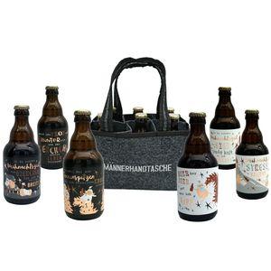 Jack's Männerhandtasche Weihnachten / Biergeschenk für Männer / Weihnachtsbier / gefüllt mit 6 Bierflaschen 🍻 / witzige Sprüche zum Fest / Herrengeschenk / Partygeschenk 🎁 / Sixpack / für echte Männer