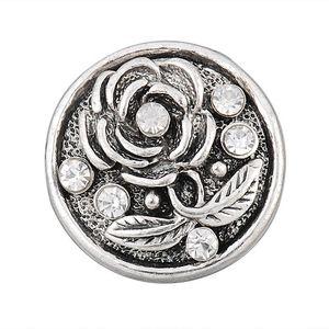 Andante Edler CHUNK Click-Button Druckknopf (Blume Antique)