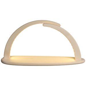 LED Lichterbogen aus Holz 21 cm mit USB inkl. Netzstecker, Ausführung:natur ohne Bestückung