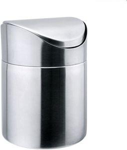 edelstahl mini Tischmülleimer Abfallbehälter müll Aufbewahrung Eimer Trash Swingdeckel
