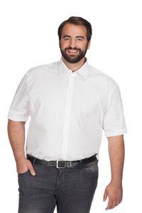 Business Kurzarm-Hemd Plus Size Herren, Weiß, XXXL